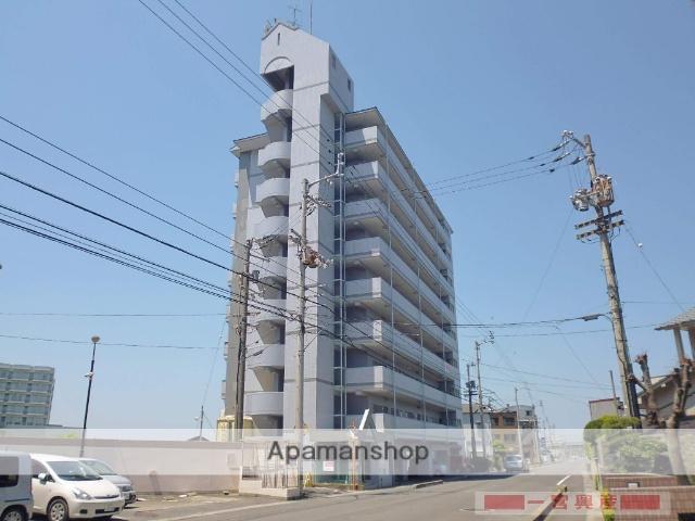 愛媛県松山市、牛渕団地前駅徒歩2分の築21年 9階建の賃貸マンション