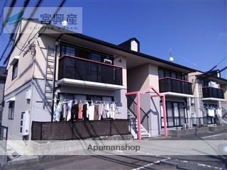 愛媛県東温市、梅本駅徒歩14分の築22年 2階建の賃貸アパート