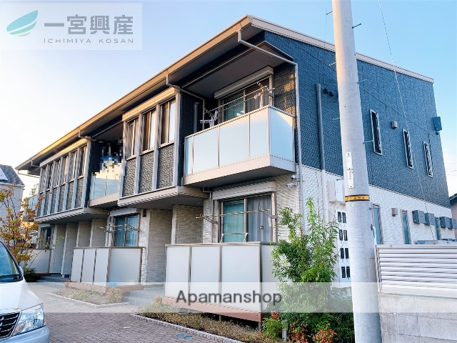 愛媛県松山市、三津駅徒歩10分の築1年 2階建の賃貸アパート