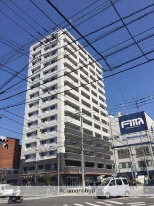 愛媛県松山市、松山駅徒歩6分の築1年 15階建の賃貸マンション