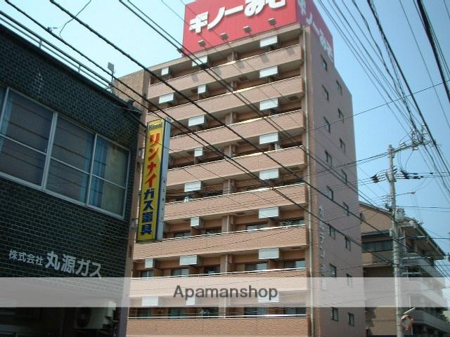 愛媛県松山市、平和通一丁目駅徒歩4分の築20年 9階建の賃貸マンション