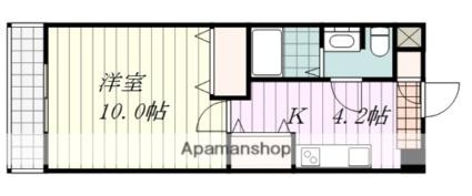 アリスト・ステーション・ピラー[1DK/30.99m2]の間取図