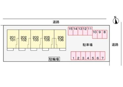 ブルー バード[2LDK/58.94m2]の配置図