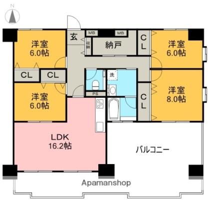 リップルガーデンⅡ[4LDK/107.91m2]の間取図
