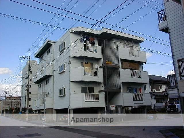 高知県高知市、県立美術館通駅徒歩10分の築26年 4階建の賃貸マンション