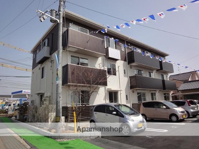 高知県南国市、住吉通駅徒歩9分の築5年 3階建の賃貸アパート