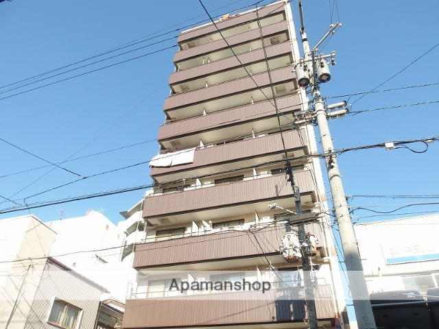高知県高知市、デンテツターミナルビル前駅徒歩4分の築27年 11階建の賃貸マンション