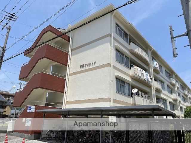 高知県高知市、東新木駅徒歩8分の築32年 4階建の賃貸マンション