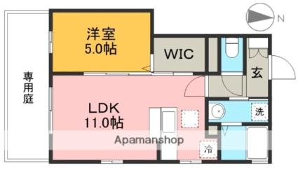 高知県高知市神田[1LDK/40.73m2]の間取図