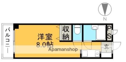 高知県高知市本宮町[1R/19.44m2]の間取図