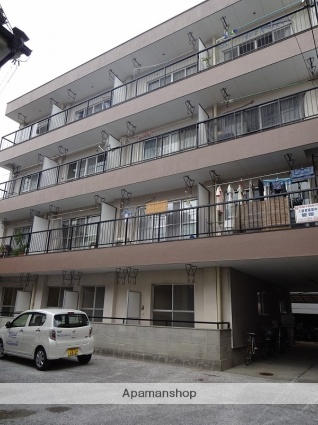 高知県高知市、県立美術館通駅徒歩6分の築28年 4階建の賃貸マンション