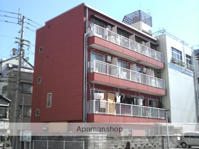 高知県高知市、グランド通駅徒歩5分の築27年 4階建の賃貸アパート