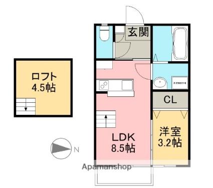 煉瓦の家 SAKURAI[1LDK/36.27m2]の間取図