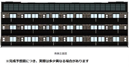 高知県高知市、県立美術館通駅徒歩10分の新築 3階建の賃貸アパート