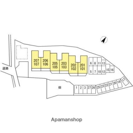 シャトーあゆみ[1LDK/50.42m2]の配置図