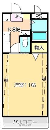 S・TAGE(エステージ)[1K/30m2]の間取図