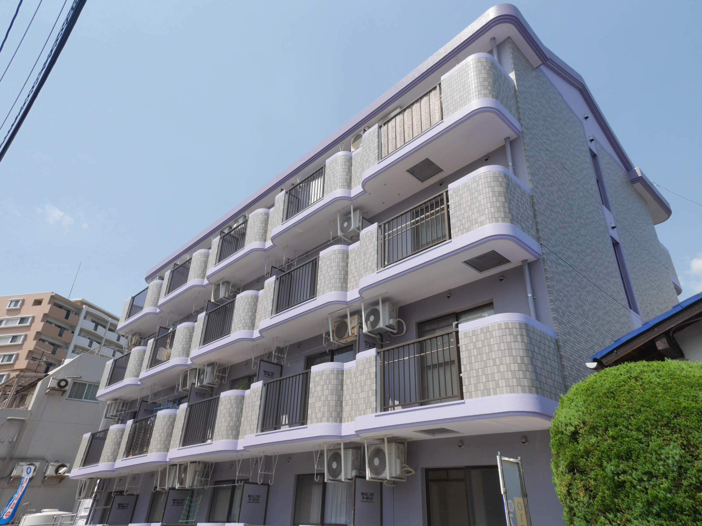 福岡県大野城市、水城駅徒歩10分の築23年 4階建の賃貸マンション