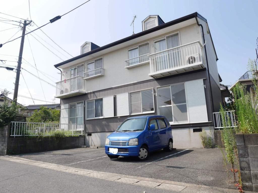 福岡県春日市、博多南駅西鉄バスバス15分ちくし台下車後徒歩2分の築24年 2階建の賃貸アパート