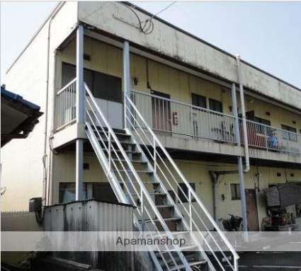 福岡県朝倉市、馬田駅徒歩21分の築36年 2階建の賃貸アパート