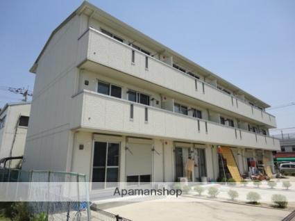 福岡県久留米市、大善寺駅徒歩4分の築9年 3階建の賃貸アパート