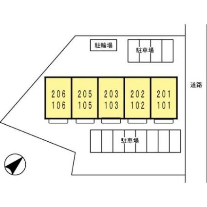 大分県日田市本庄町[1LDK/33.39m2]の配置図