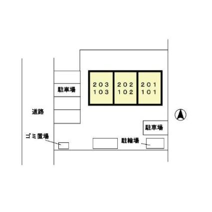 クレール・コート[1LDK/37.64m2]の配置図