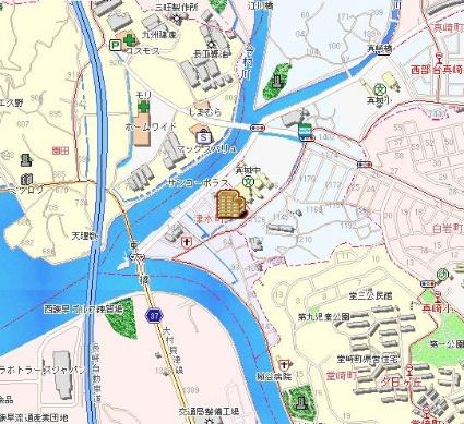ビレッジハウス津水1号棟[3DK/53.08m2]の配置図