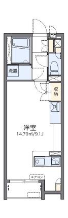 レオネクストミルティーユ[1R/26.5m2]の間取図