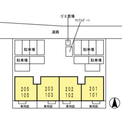 佐賀県佐賀市本庄町大字末次[2LDK/55.44m2]の配置図