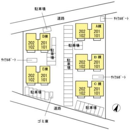 佐賀県佐賀市兵庫南1丁目[3DK/68.75m2]の配置図