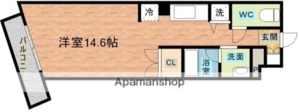 TEKビル桜町電停前[1R/33.7m2]の間取図