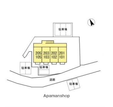 フォレストヒルズ[1K/23.59m2]の配置図