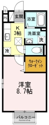 エーデルハイム吉村Ⅲ[1K/30.27m2]の間取図
