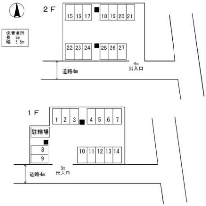 長崎県佐世保市高砂町[2LDK/51.23m2]の配置図