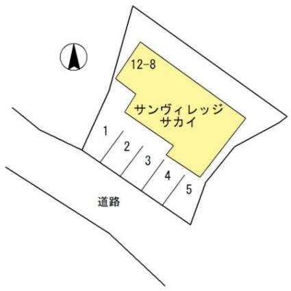 長崎県佐世保市神島町[2DK/39.74m2]の配置図