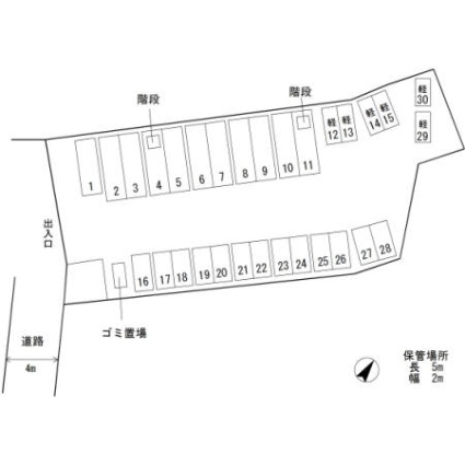 ダイヤヒルズ島瀬[3LDK/67.06m2]の配置図