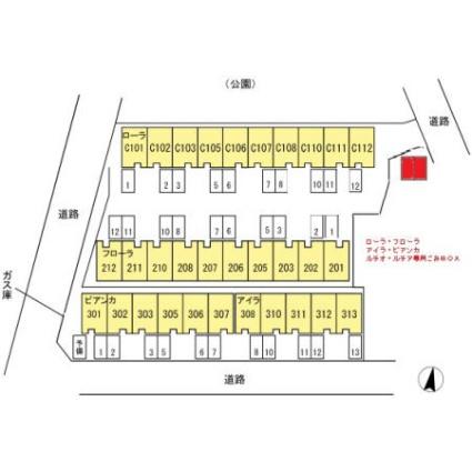 ローラ[3LDK/81.39m2]の配置図
