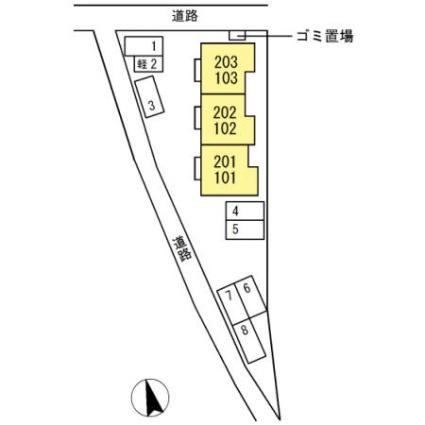 セントミッシェル[1LDK/45.54m2]の配置図