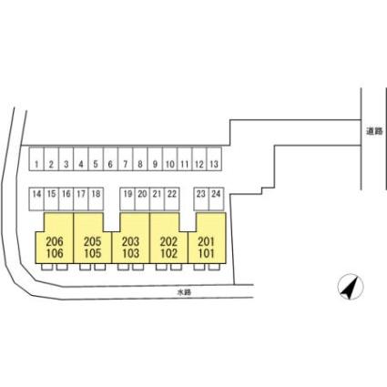 ソレイユDAITO[2LDK/53.48m2]の配置図