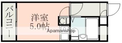 サンウイングス[1R/15m2]の間取図