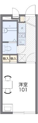 レオパレスSKR琴平[1K/19.87m2]の間取図