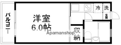 シティハイム大江[1K/20m2]の間取図
