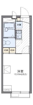 レオパレス西阿弥陀寺2009[1K/19.87m2]の間取図