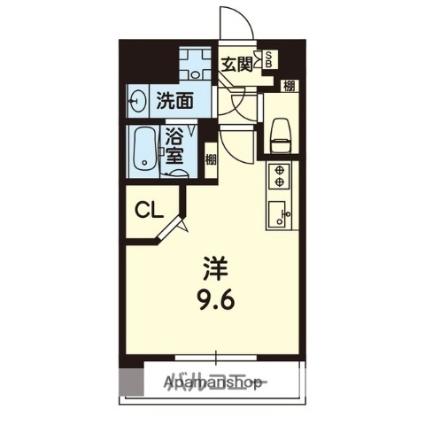 ライズ熊本駅north[1R/28m2]の間取図