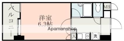 朝日プラザ新町[1K/17.31m2]の間取図