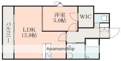 サムティ熊本近見Ⅰ[1LDK/47.94m2]の間取図
