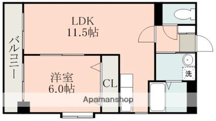 Niceマンション九品寺[1LDK/42.12m2]の間取図