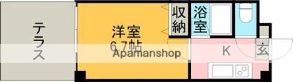 ロフティ大江[1K/22.32m2]の間取図