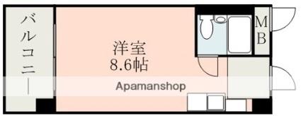 水前寺北スカイマンション[1R/16.77m2]の間取図