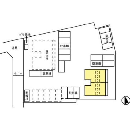 熊本県熊本市中央区世安町[2DK/52m2]の配置図